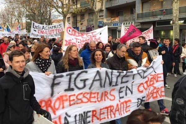 Les manifestants à Draguignan ce mardi.