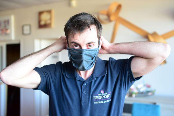 Des masques lavables 40 fois, produits par les Meubles Despont