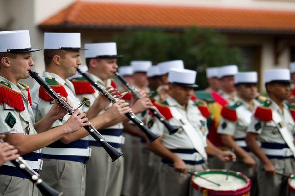 La musique de la Légion étrangère du gourverneur de Marseille