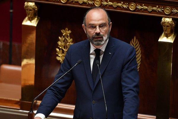 Le premier ministre Edouard Philippe, durant la présentation du plan de déconfinement