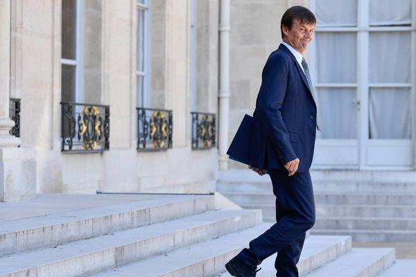 Nicolas Hulot, Ministre de la Transition Écologique et Solidaire en sortie du conseil des Ministres du 3 août 2018