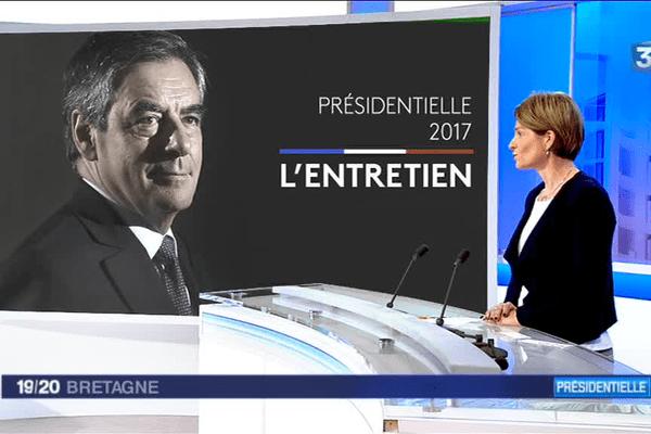 Isabelle Le Callennec, députée de la 5ème circonscription d'Ille-et-Vilaine et vice-présidente des Républicains, a défendu le programme de François Fillon sur le plateau de France 3 Bretagne.