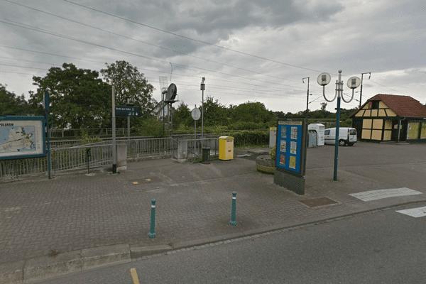La gare de Geispolsheim (Bas-Rhin), près de laquelle l'accident a eu lieu.