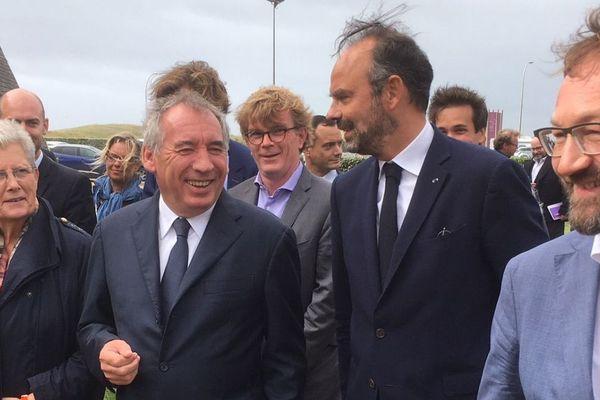 Édouard Philippe était l'invité de François Bayrou à l'université de rentrée du MoDem à Guidel (Morbihan)