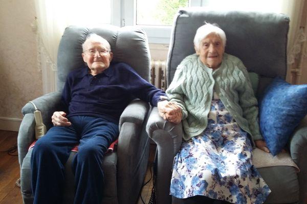 Marcel et Berthe, 82 ans de mariage.