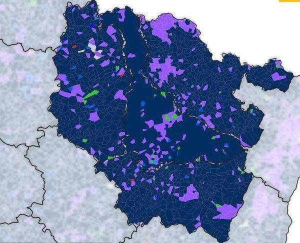Carte du vote en lorraine pour les Européennes 2019