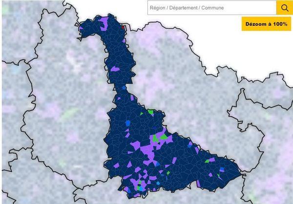 Carte du vote en Meurthe-et-Moselle pour les Européennes 2019.