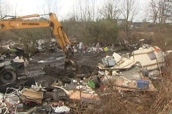 Le camp de Roms démantelé ce jeudi.