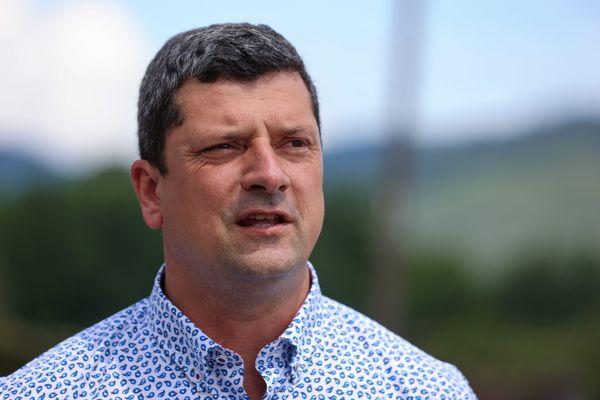 Florian Bouquet, à la tête de la majorité LR du conseil départemental du  Territoire-de-Belfort