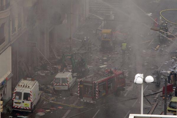 L'explosion du Cours Lafayette le 28 février 2008.
