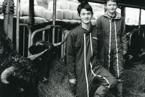 Lucian et Louis Courtier, fils d'agriculteur, veulent tous deux reprendre la ferme de leur père quand ils seront grands