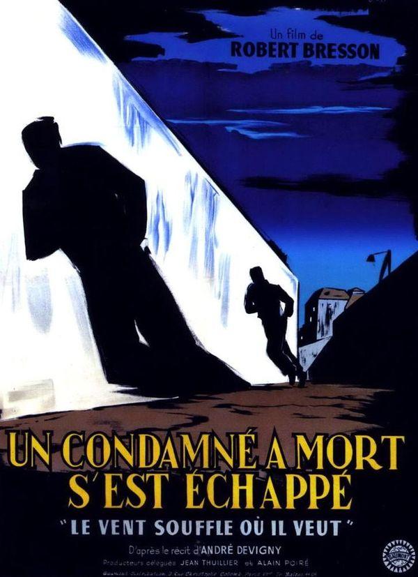 L'affiche d'Un condamné à mort s'est échappé, prix de la mise en scène au Festival de Cannes (1956)