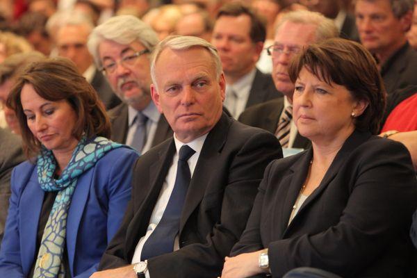 S.Royal, J.M.Ayrault et M.Aubry en 2012.