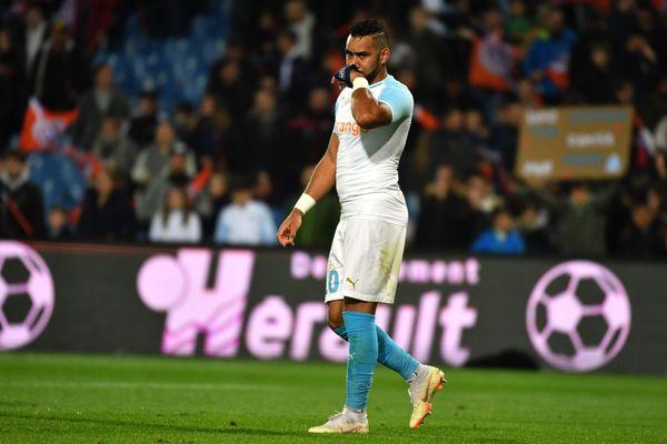 Le capitaine de l'OM, Dimitri Payet après la défaite en 8ème de finale de la Coupe de la Ligue face à Strabourg.