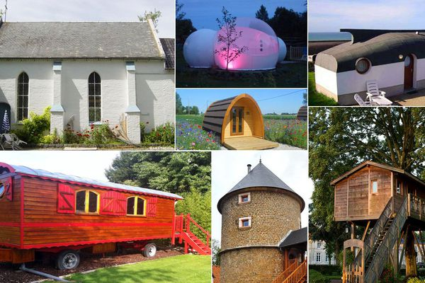 Oui, on peut dormir dans une chapelle, une roulotte, un tipi ou une cabane perchée...