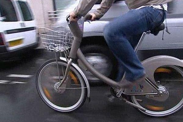 Un  Vélib' à Paris