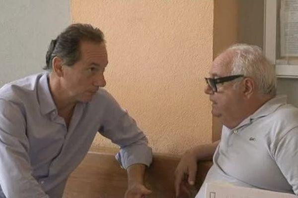 14/09/15 - Le président du Comité corse de cyclisme, Paul-Antoine Lanfranchi (G), au TGI de Bastia