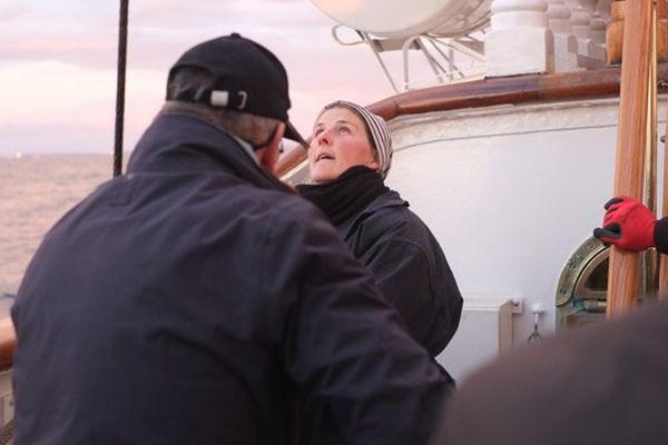 Agnès est gabier instructeur sur le Belem