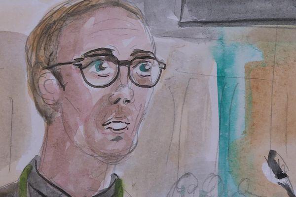 Gaëtan Honoré lors de son témoignage face à la cour d'Assises de Paris