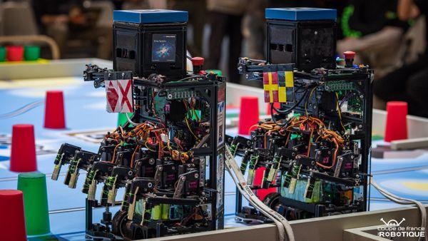 Sur le plateau les robots s'affronteront dans des matchs autour de la thématique du Vendée Globe