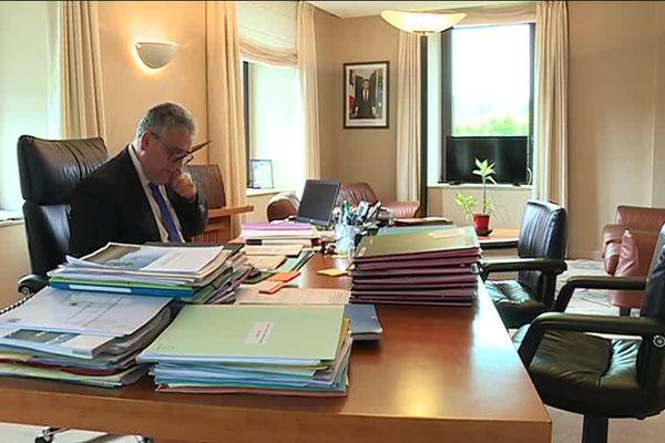 Pascal Coste, président du Conseil Départemental de la Corrèze a boycotté la venue d'Emmanuel Barbe, délégué interministériel à la sécurité routière.