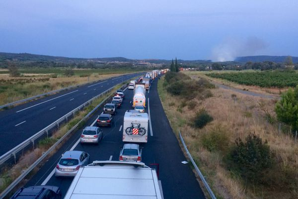 L'incendie de Bizanet a entraîné la fermeture de l'autoroute A61 pendant plusieurs heures - 7 septembre 2017