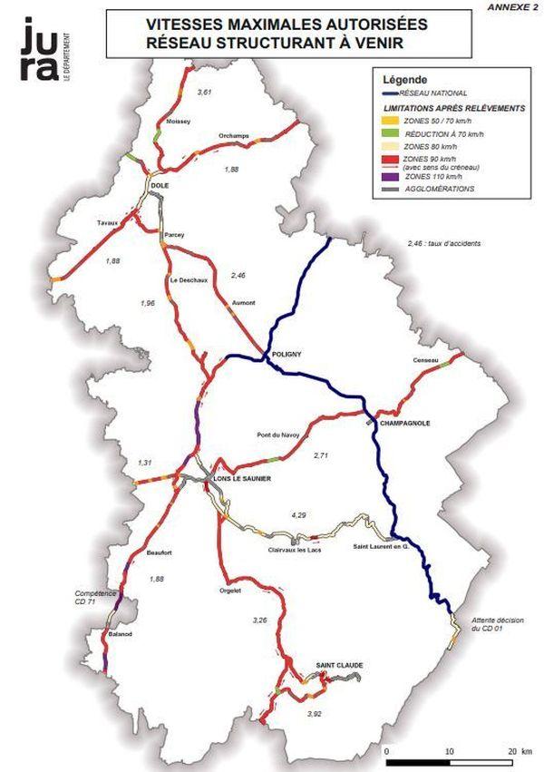 Le Jura autorise à nouveau le 90 km/h sur ses routes à compter du 1er septembre 2020.