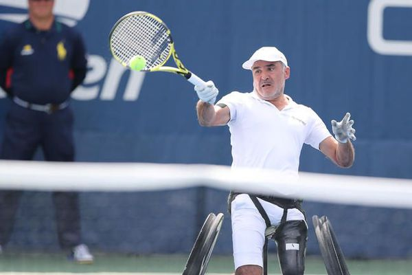 Stéphane Houdet, lors de la finale de l'US Open du simple masculin en fauteuil, le 08 septembre 2019, à New York