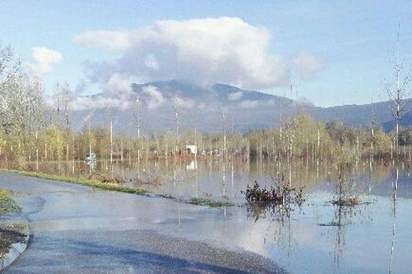 Les vannes ont été ouvertes, la plaine est progressivement inondée, ce 22 janvier, à 10H30