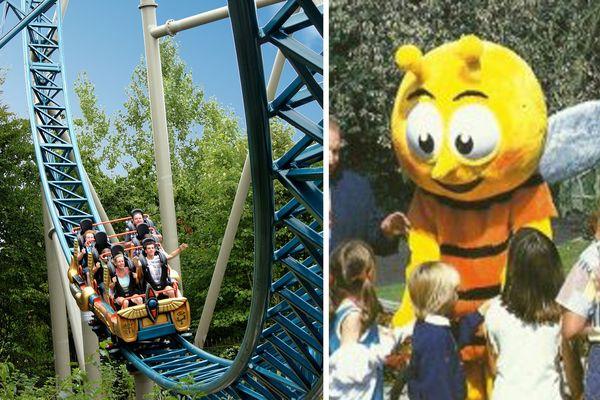 La mascotte de l'abeille Meli était l'emblème du parc.