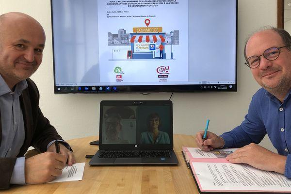 Le bailleur S.A. HLM de l'Oise a signé une charte d'engagements pour soutenir ses locataires professionnels en difficultés financières à cause du confinement