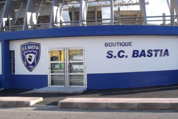 La boutique du Sporting Club de Bastia, à Furiani