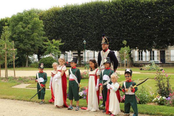 Benoît lors d'une visite guidée de Pontivy sur le thème de Napoléonville.