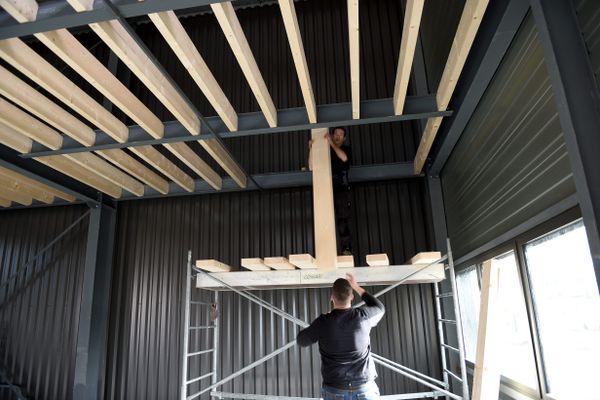 L'inflation touche particulièrement certains matériaux de construction comme le bois et les métaux. Photo d'illustration