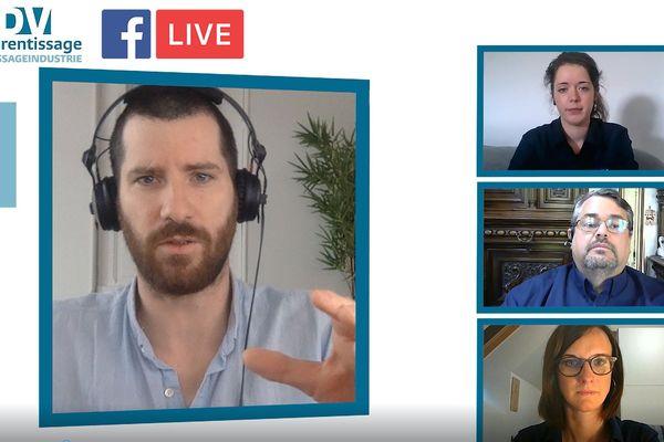 """Le pôle formation UIMM Alsace enchaîne les Facebook live lors des """"rendez-vous de l'apprentissage"""""""
