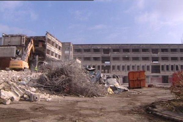 Le chantier de l'ancien hôpital de Vesoul