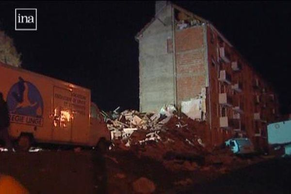Explosion du 04 décembre 1999 à Dijon - archives I.N.A.
