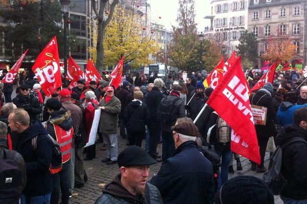 Manifestation contre réforme Code du travail 16 novembre 2017 Place Kleber