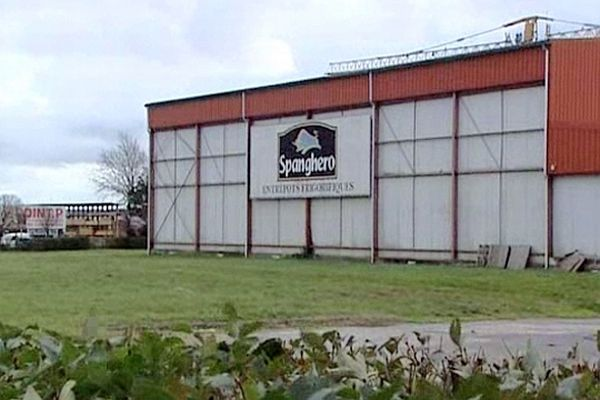 Castelnaudary (Aude) - l'entrepôt Spanghero - février 2013.