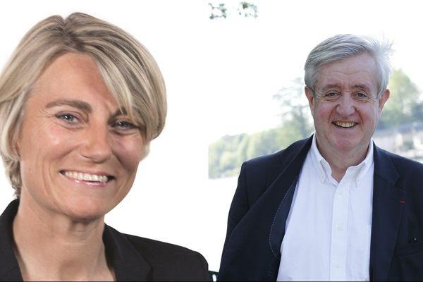 Stéphanie Rist LREM et Charles-Eric Lemaignen LR (1ère circo du Loiret)