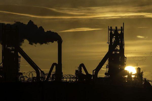 Le site de British Steel à Scunthorpe, en Grande-Bretagne.