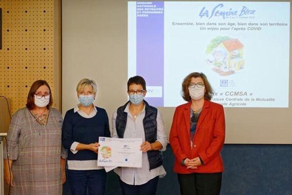 Christine Laurent et son équipe présentent la semaine bleue à Oeuilly.
