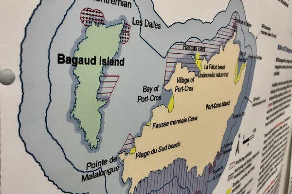 Illustration d'une partie du Parc National de Port-Cros, situé dans les «îles d'or» au large de Hyères (Var).