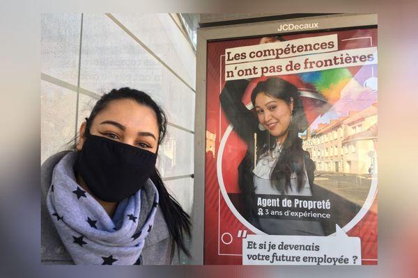Imane n'a pas hésité à s'afficher avec l'aide la régie ACTIF de Cholet pour trouver un emploi