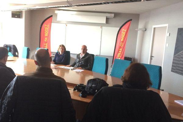 Conférence de presse du 15 février 2017 avec les élus Sarah Vidal et Francis Fournier