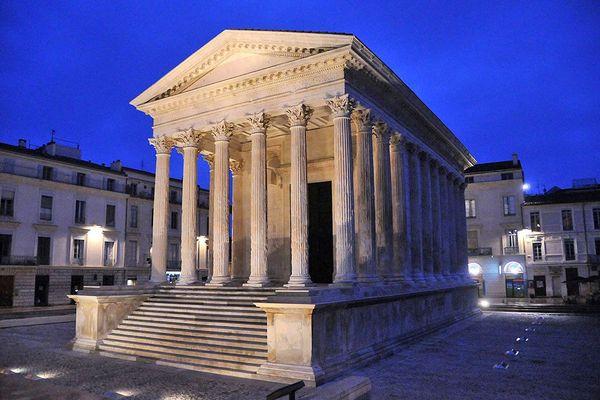 Nîmes - la Maison Carrée candidate au patrimoine mondial de l'UNESCO - archives.