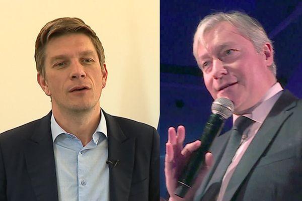 Le scénario n'est pas hollywoodien mais presque ! Suspense : Mathieu Klein (à gauche) et Laurent Hénart en tête et à égalité d'un sondage pour les Municipales à Nancy !