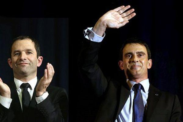 Benoît Hamon et Manuel Valls : le duel de la primaire de gauche pour le second tour dimanche 29 janvier 2017