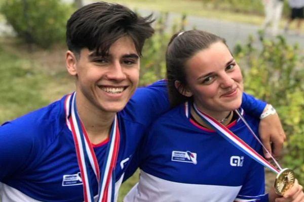 Mateo Colsenet et Zoé Hapka, deux jeunes roubaisiens ont été sacrés champions de France juniors de BMX.