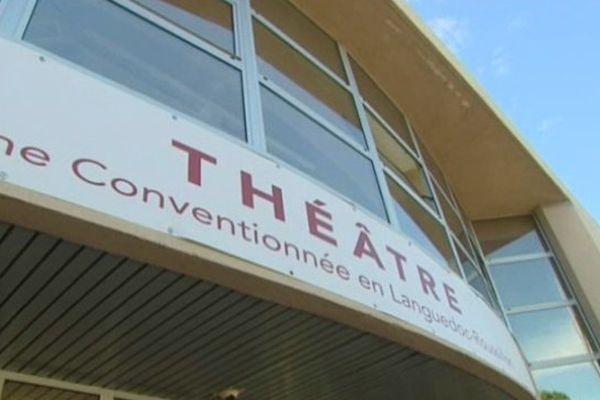 Le théâtre de Villeneuve-lès-Maguelone dans l'Hérault